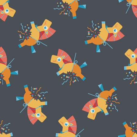horse confetti flat icon,eps10 seamless pattern background Vector