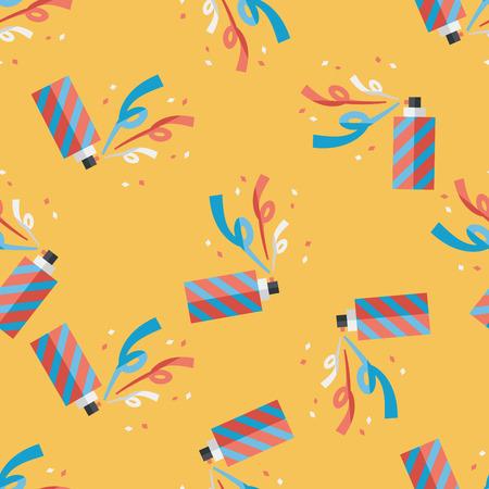 parade confetti: icono plana confeti, eps10 de fondo sin fisuras patr�n Vectores
