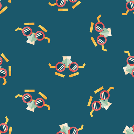 complement: party Mask flat icon,eps10 seamless pattern background