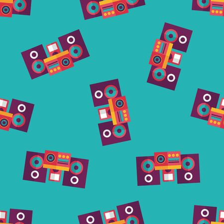 Mobile phone with speakers  flat icon,eps10 seamless pattern background Vector