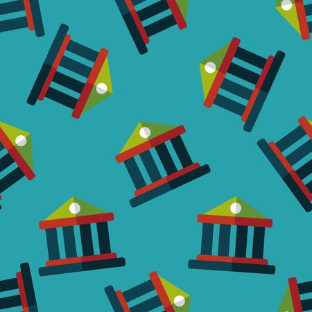 built structure: Building flat icon,eps10 seamless pattern background