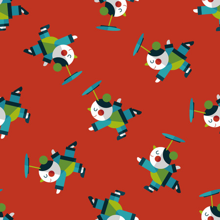 acrobatics: Chinese New Year Acrobatics girl flat icon,eps1 seamless pattern background Vectores