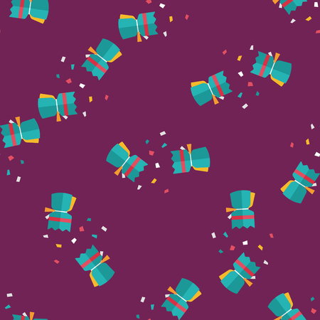 christmas cracker: Christmas cracker flat icon,eps10 seamless pattern background Illustration