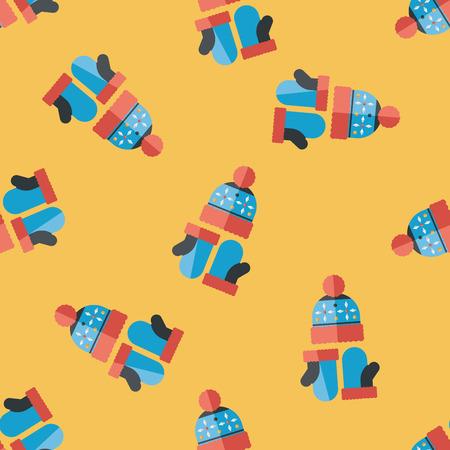 christmas accessories: Christmas accessories flat icon,eps10 seamless pattern background Illustration
