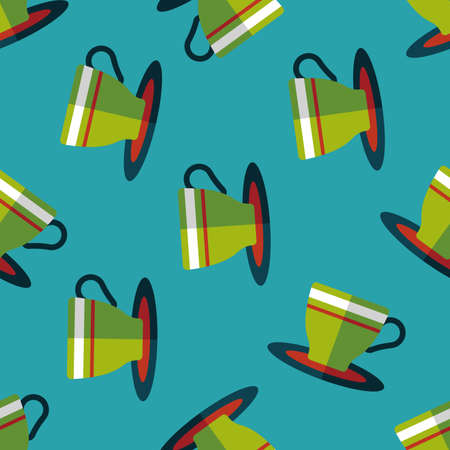 lliquid: coffee cup flat icon,eps10 seamless pattern background