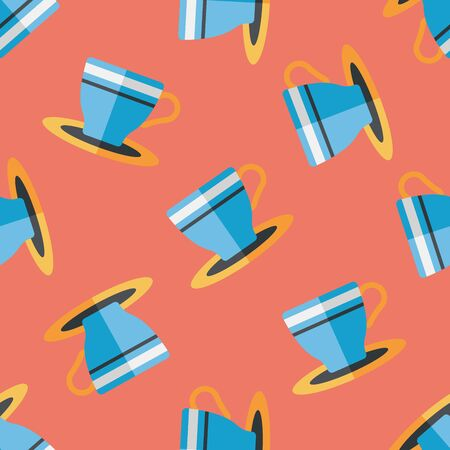 coffeecup: coffee cup flat icon,eps10 seamless pattern background