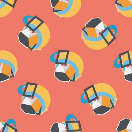 bagged: coffee bag flat icon,eps10 seamless pattern background