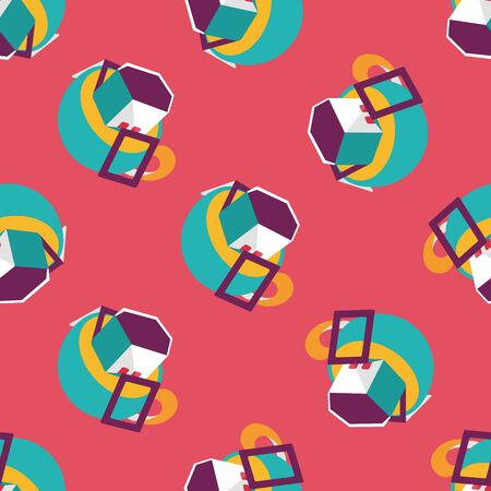 koffiebaal: coffee bag flat icon,eps10 seamless pattern background