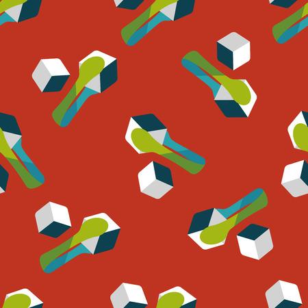 sweetener: Sugar cubes flat icon,eps10 seamless pattern background