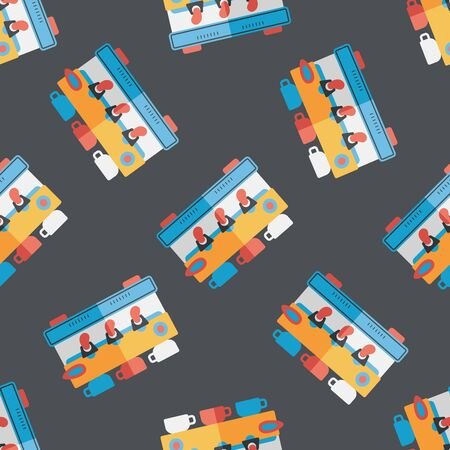 coffee machine flat icon,eps10 seamless pattern background 向量圖像