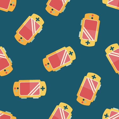 handheld: Handheld game consoles flat icon,eps10 seamless pattern background