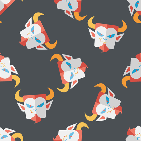 inhumane: Vampire flat icon, eps10 seamless pattern background Illustration