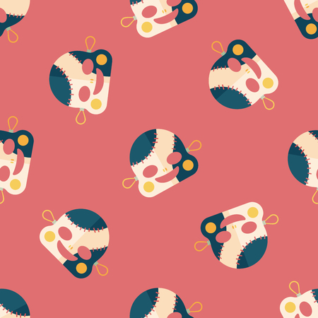 scar: halloween zombie flat icon,eps10 seamless pattern background Illustration