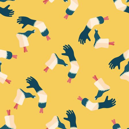 severed: Halloween hand and leg flat icon,eps10 seamless pattern background