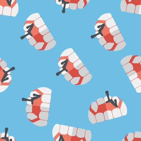 fangs: Halloween fangs flat icon,eps10 seamless pattern background