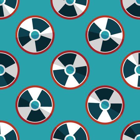 radiacion: Radiaci�n icono plana patr�n de fondo sin fisuras