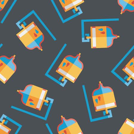 iv: IV bag flat icon seamless pattern background