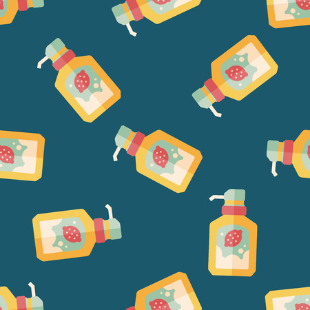 foaming: kitchenware dish soap flat icon,eps10 seamless pattern background Illustration