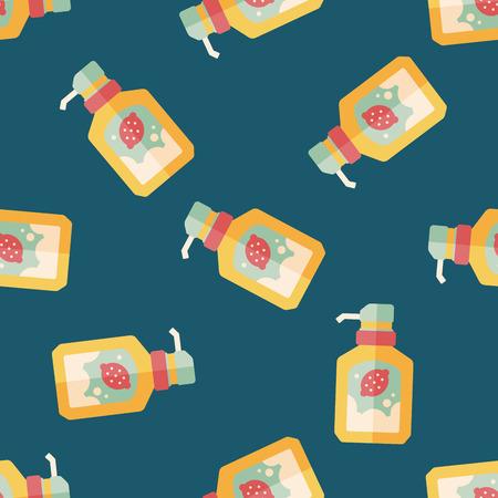 dishwashing liquid: kitchenware dish soap flat icon,eps10 seamless pattern background Illustration