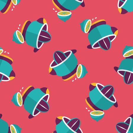 liquidizer: kitchenware juicer flat icon,eps10 seamless pattern background