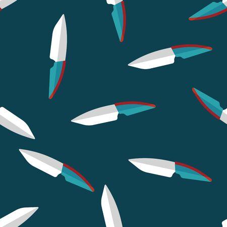 cutouts: kitchenware fruit knife flat icon,eps10 seamless pattern background Illustration