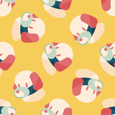 face covered: Pet dog mouth cover flat icon,eps10 seamless pattern background Illustration