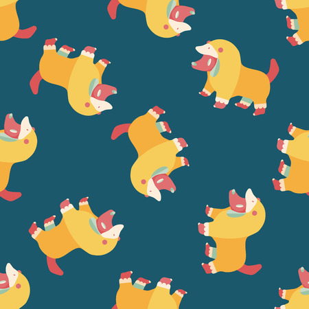 clothed: Pet Clothes flat icon, eps10 seamless pattern background
