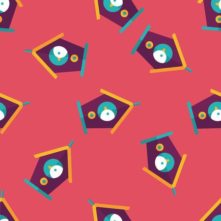 maison oiseau: Animaux maison d'oiseau ic�ne plat, eps10 seamless fond Illustration