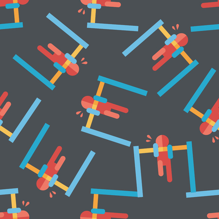 adolescence: pull-up flat icon,eps10 seamless pattern background