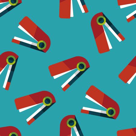 stapling: Stapler flat icon,eps10 seamless pattern background Illustration