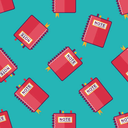 periodicals: notebook flat icon,eps10 seamless pattern background
