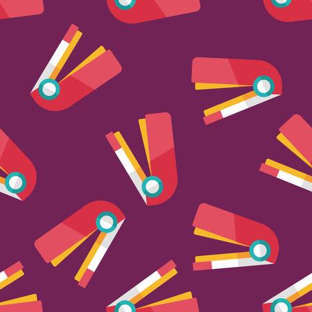 hole puncher: Stapler flat icon,eps10 seamless pattern background Illustration