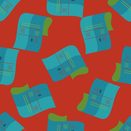creditcard: shopping credit card bill flat icon,eps10 seamless pattern background Illustration