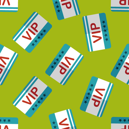 costumer: shopping vip card flat icon,eps10 seamless pattern background