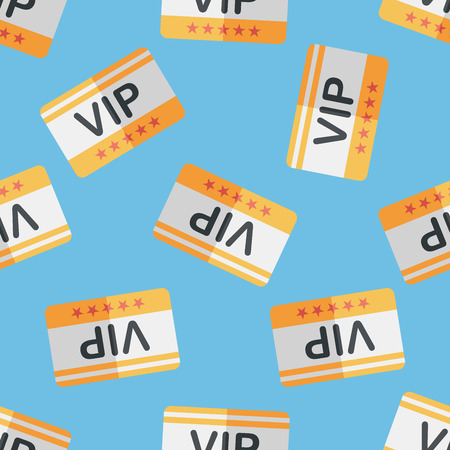 shopping vip card flat icon,eps10 seamless pattern background