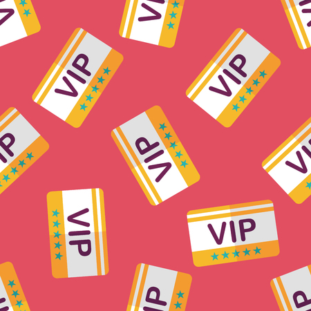 celebrities: shopping vip card flat icon,eps10 seamless pattern background