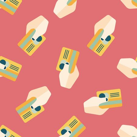 creditcard: shopping credit card flat icon,eps10 seamless pattern background