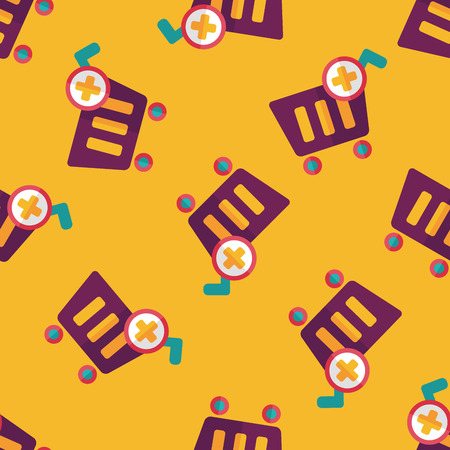 shoppingcart: shopping cart flat icon,eps10 seamless pattern background
