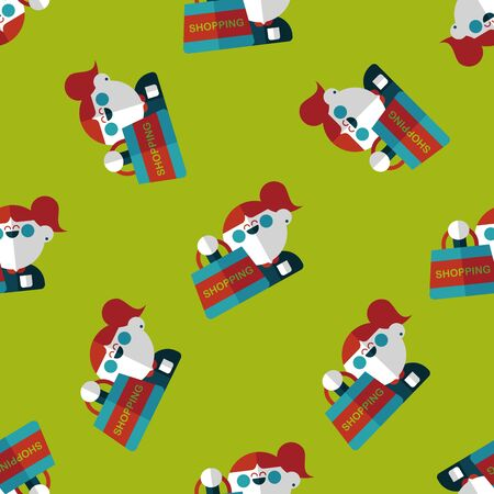 SALE Shopaholic flat icon,eps10 seamless pattern background Vector