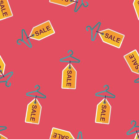 coathanger: shopping clothes hanger flat icon,eps10 seamless pattern background Illustration