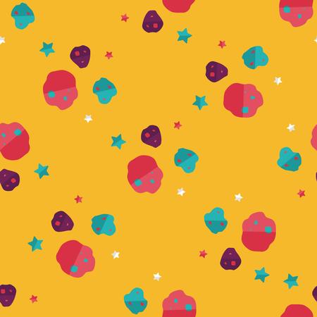 meteorite: Space Meteorite flat icon,eps10 seamless pattern background Illustration