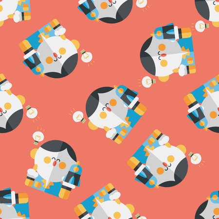 physicist: Space scientists flat icon,eps10 seamless pattern background