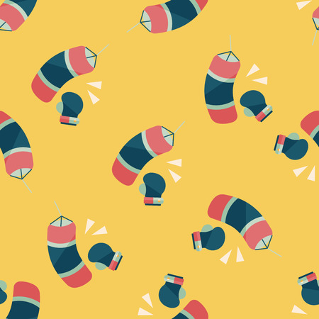 boxing flat icon,eps10 seamless pattern background Vector