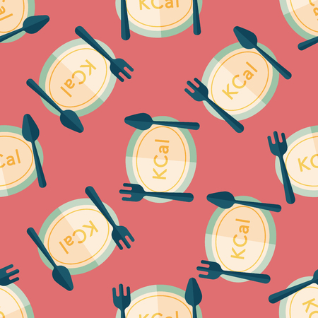 calories: calories diet flat icon,eps10 seamless pattern background