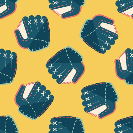 pincher: baseball glove flat icon,eps10 seamless pattern background