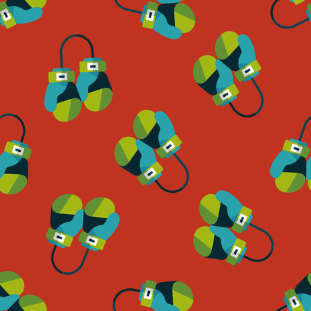 defending: boxing gloves flat icon,eps10 seamless pattern background