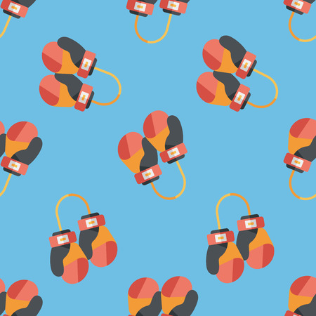 boxing gloves flat icon,eps10 seamless pattern background