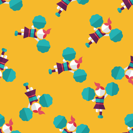 arms outstretched: cheerleader flat icon,eps10 seamless pattern background