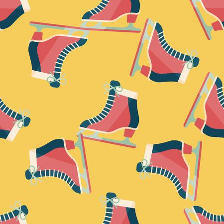 iceskates: ice skate flat icon,eps10 seamless pattern background Illustration
