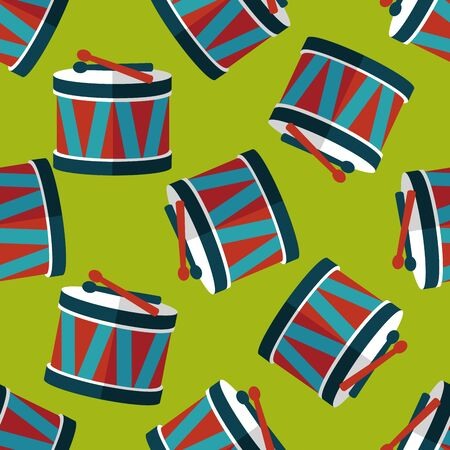 drumming: drum flat icon,eps10 seamless pattern background